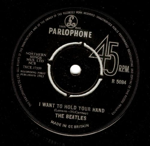 THE BEATLES I Want To Hold Your Hand Vinyl Record 7 Inch Parlophone 1963